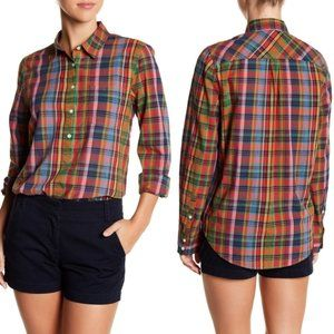 J Crew • Plaid Popover Boy Shirt